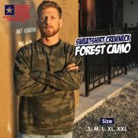 New States Apparel 9000 Sweatshirt Crewneck Forest Camo (S M L XL XXL)