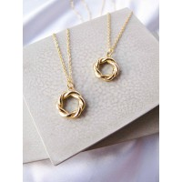 DearMe - ANNA Necklace (925 Sterling Silver with 18K gold plating)