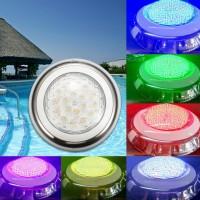 HJR Lampu LED 100% Resin Warna-Warni 18W RGB untuk Kolam Renang