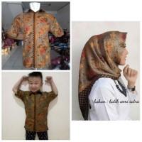 Baju Batik / Batik Couple -- Couple Family Yani Jilbab Segi Empat