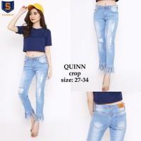 Celana Jeans Wanita Quinn Warna Biru