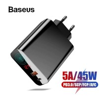 BASEUS PPS 45W WALL CHARGER PD QC3.0 QUICK CHARGE FAST CHARGING SFC