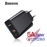 BASEUS PPS 30W WALL CHARGER PD QC3.0 QUICK CHARGE FAST CHARGING SFC