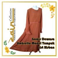 Gamis Dewasa Umbrella Model Tumpuk List Bisban