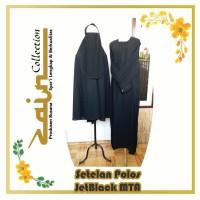 Setelan Polos warna Hitam JetBlack Zain Collection