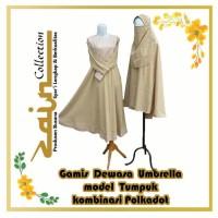 Gamis Dewasa Umbrella Model Tumpuk komb Polkadot