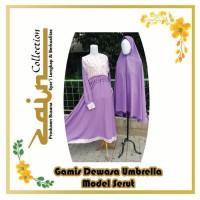 Gamis Dewasa Umbrella Model Serut Motif Bunga