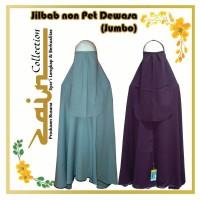 Jilbab non-Pet Dewasa (Jumbo) List Bisban