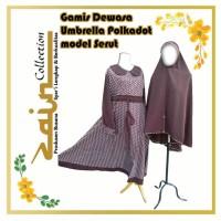 Gamis Dewasa Umbrella Polkadot Model Serut