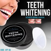 Pemutih Gigi Herbal Charcoal Powder Activated Teeth Whitening Pemutih
