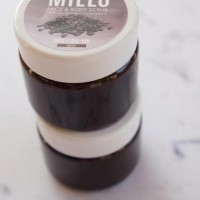 miels coffee scrub in a jar