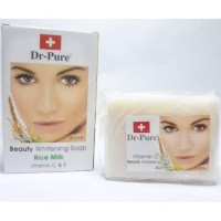 Sabun Wajah Dr PURE BPOM (whitening Facial soap bar) - RICE MILK