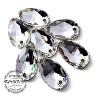 Swarovski Payet Jahit Tetes Teardrop 18x10.5mm - Clear Kristal