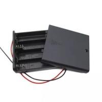 Battery Holder 4 x AA , 4 x 1.5 Volt, dilengkapi dengan sakelar on/off