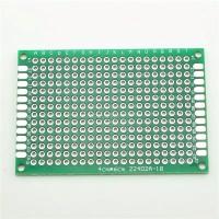 PCB fiber 4 cm x 6 cm - double side/dua sisi