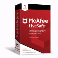 McAfee LiveSafe Antivirus ORIGINAL 1-Device 1-Year Subscription