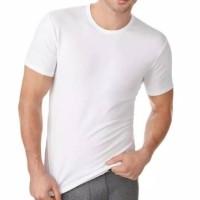 Kaos Dalam Pria / Singlet -- Kaos Oblong Pria Putih Polos Swan Brand