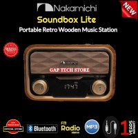 Nakamichi Soundbox Lite Portable Retro Wooden Music Speaker Original