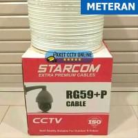 Kabel CCTV RG59 Power Starcom Meteran