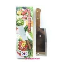 Golok daging tajam gagang kayu korea 32 cm