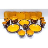 PROMO BULAN INI Paket Rosemary Kuning Coklat 1 Set Peralatan Makan Mel