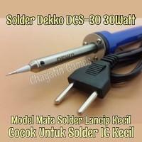 Solder Dekko 30 Watt Type DCS-30 Mata Lancip Kecil