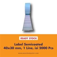 Label Barcode Ukuran 40x30 mm 1 Line