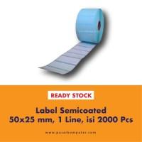 Label Barcode Ukuran 50x25 mm 1 Line