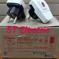 Ter Hot Steker Saklar Dengan Lampu Broco 13311 / Steker Switch On/Off