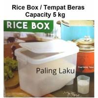 Kotak Penyimpanan -- Rice Box/ tempat Beras/Kotak Beras 5 Kg