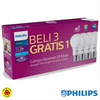 PHILIPS LAMPU LED MYCARE 12W PAKET LED BULB 12 WATT ISI 4 PUTIH