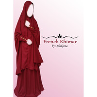 french hijab zipper premium quality