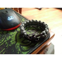 GELANG PARACORD PARACORD BRACELET SNAKE KNOT WITH LOCK SYSTEM BUCKEL