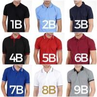 Kaos Polo Shirt Kerah Baju Big Size Polos Pria Lacoste Murah XXXL