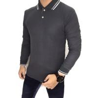 Polo Shirt Kaos Kerah Polos Baju Pria Cowok Bahan Lacos Lacoste Kaus