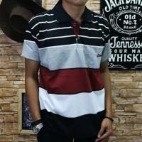 Kaos Polo Tshirt Kerah Panjang Baju Pria Cowok Lacos Keren Gaul Murah