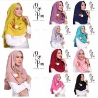 Pashmina Instan Murah Pastan Pompom Slup Jilbab Khimar HijabMurah Hija