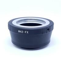 lens Adapter mounting M42 to Fuji X body