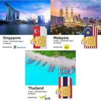 PROMO Sim Card Singapore Malaysia Thailand Unlimited 5 Hari