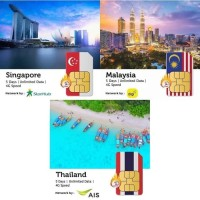 PROMO Sim Card Singapore Malaysia Thailand Unlimited 5 Days