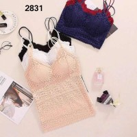 camisol brukat lace cup import bralette tanktop brocade sexy