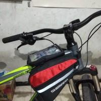 Tas frame sepeda Double bag Tulisan Shimano