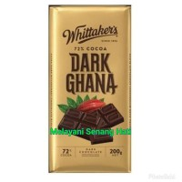 Whittaker's Dark Ghana Chocolate Bar Coklat Import