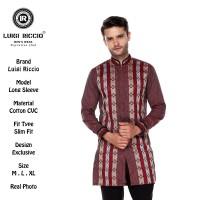Baju Koko Pakistan| Luigi Riccio| Warna Merah Bata