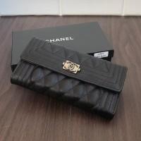 Dompet Chanel Boy Semipremium authentic Free Box