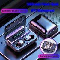 Headset Bluetooth LED Digital TWS F9 IPX7 Waterproof Wireless Airdots