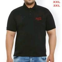 BAJU POLO UNTUK PRIA / Kaos Polo Shirt Premiun Jumbo Big Bomber Black