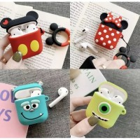 Case Airpods Iphone Apple soft silicone earphone mickey minnie mike