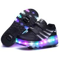 Jual Two Wheels Luminous Sneakers Black Pink Led Light Roller Skate Shoes C Jakarta Barat Vixi Store Tokopedia