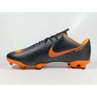 Sepatu Bola Vapor XII Pro Black Orange FG Replika Impor